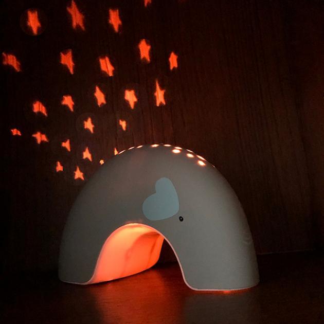 非洲象象音樂星星投射夜燈 4